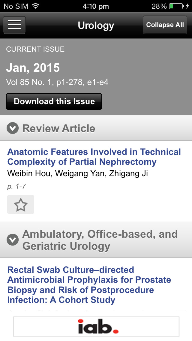Urology, the Gold Journal screenshot 4