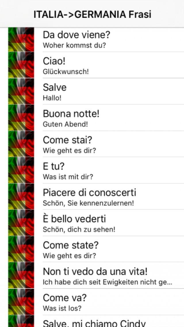 Italia Germania Frasi Italiano Tedesco Voce Frase Audio Apps