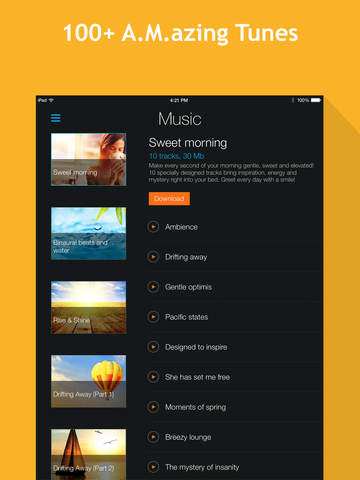 Smart Alarm Clock HD: sleep cycles and night sounds recording screenshot #5