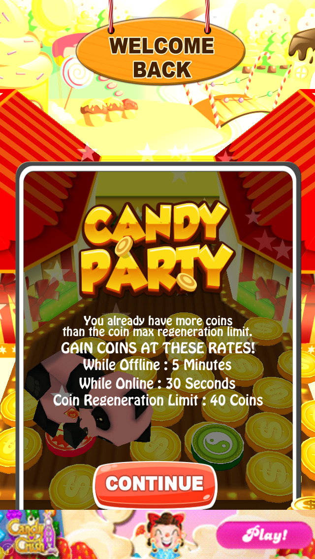 Candy Party Coin Pusher 3D screenshot 3