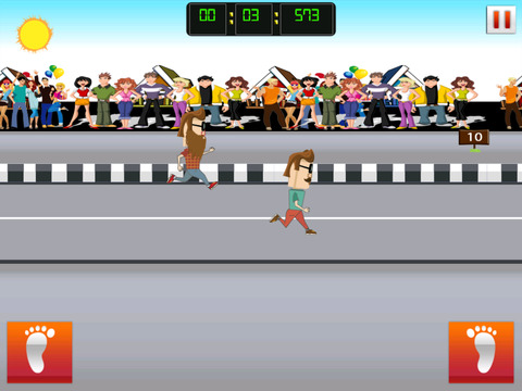 ` Hipster Race Running Battle Competition Games Work-out Free Fun screenshot 8