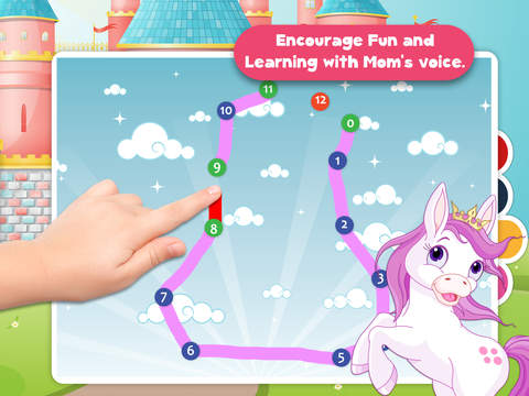 Kids Ponies Puzzle Teach me Tracing & Counting - Learn about pink ponies, cute fairies and princesses screenshot 9
