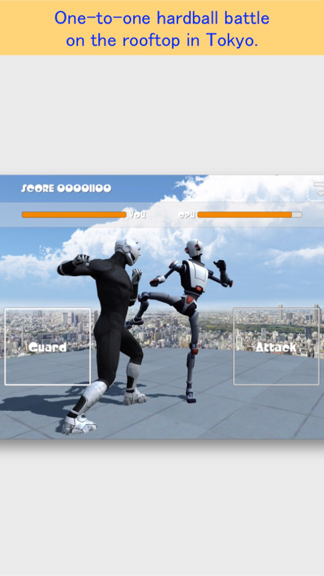 Rooftop Fighter FREE screenshot 1