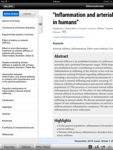 Atherosclerosis Journal screenshot 8