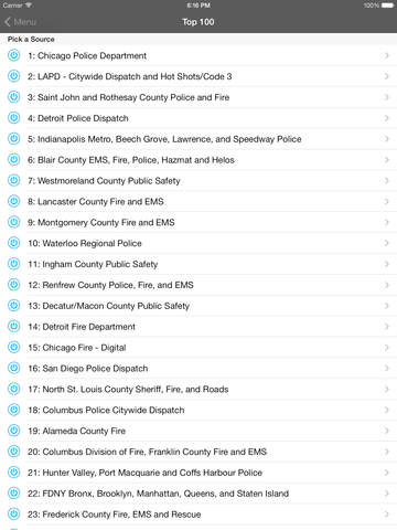 5-0 Radio Police Scanner screenshot 7