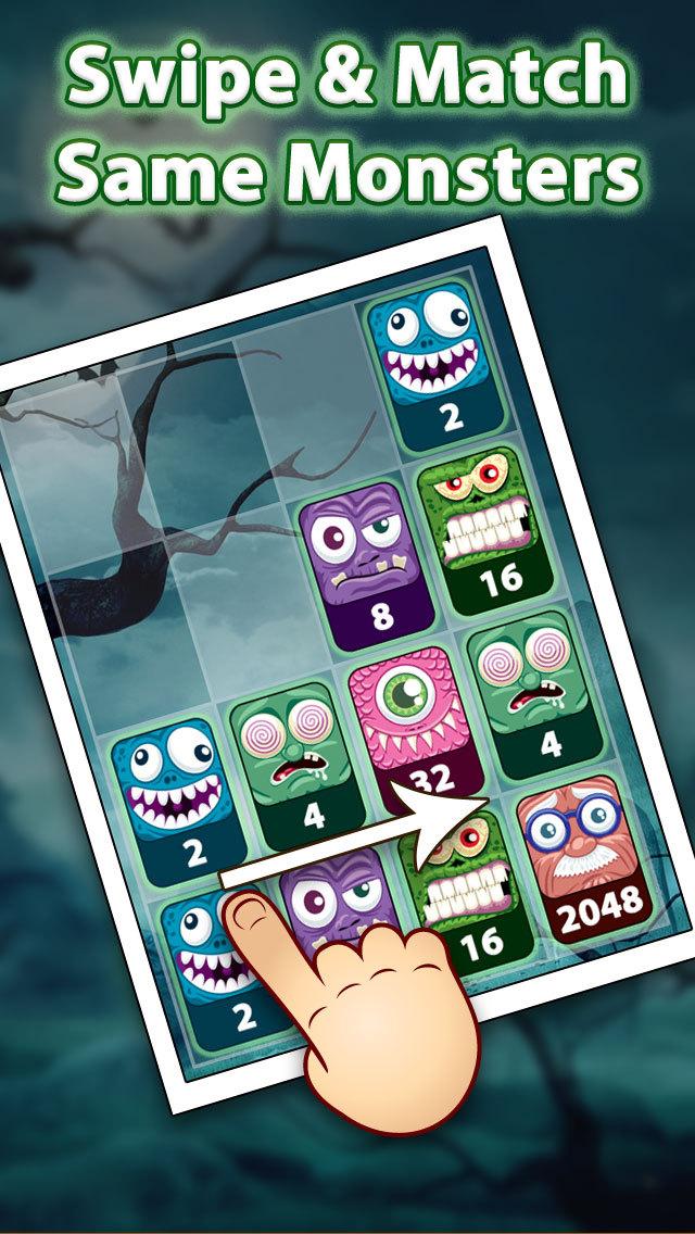 2048 Aaah! Halloween screenshot 2