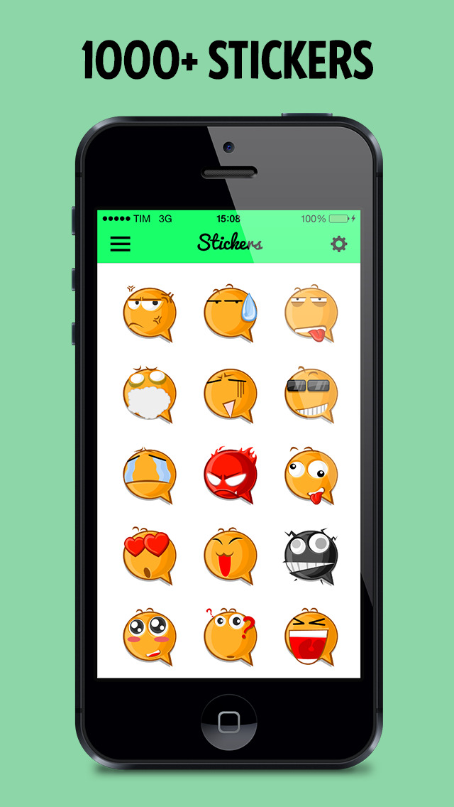 Stickers for WhatsApp, Messages, WeChat, Instagram, Kik, Telegram! screenshot 2