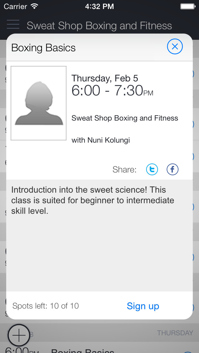 Sweat Shop Boxing & Fitness screenshot 2
