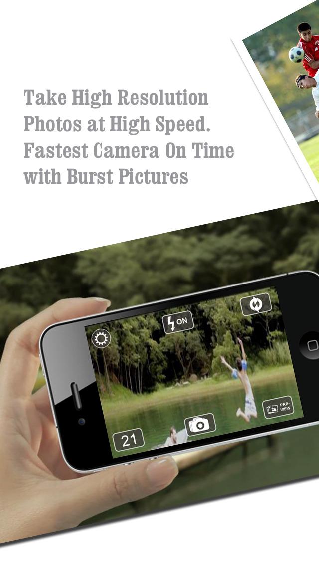 FastPix - Fast Camera + Burst Mode Camera Photos screenshot 1