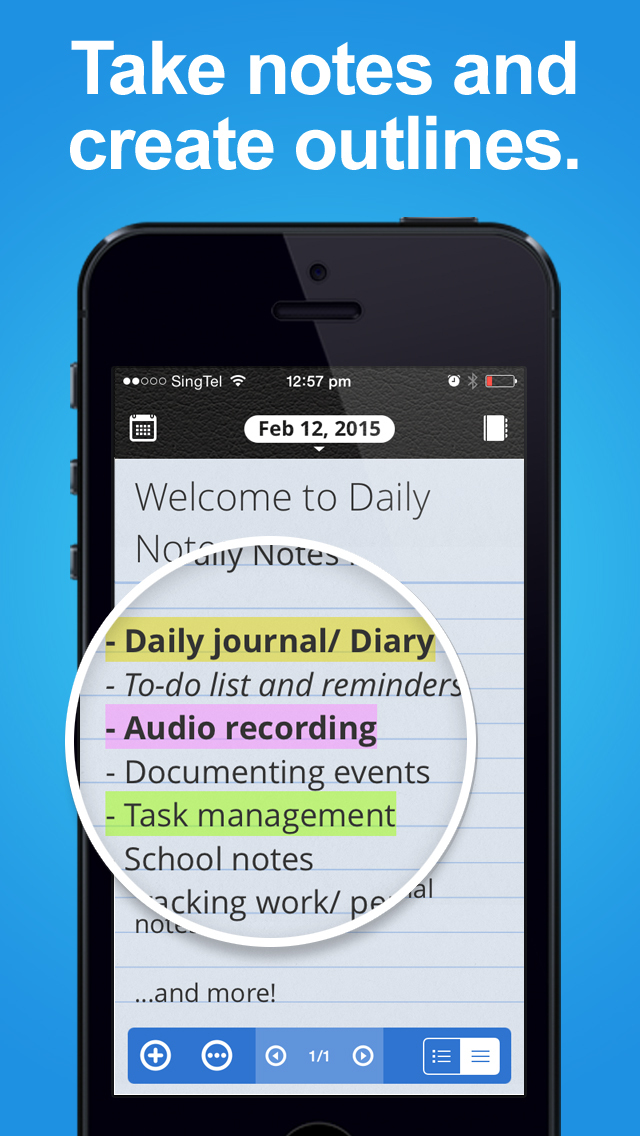 Daily Notes for SECTOR - Daily Journal, Voice Recorder, Reminder screenshot 3