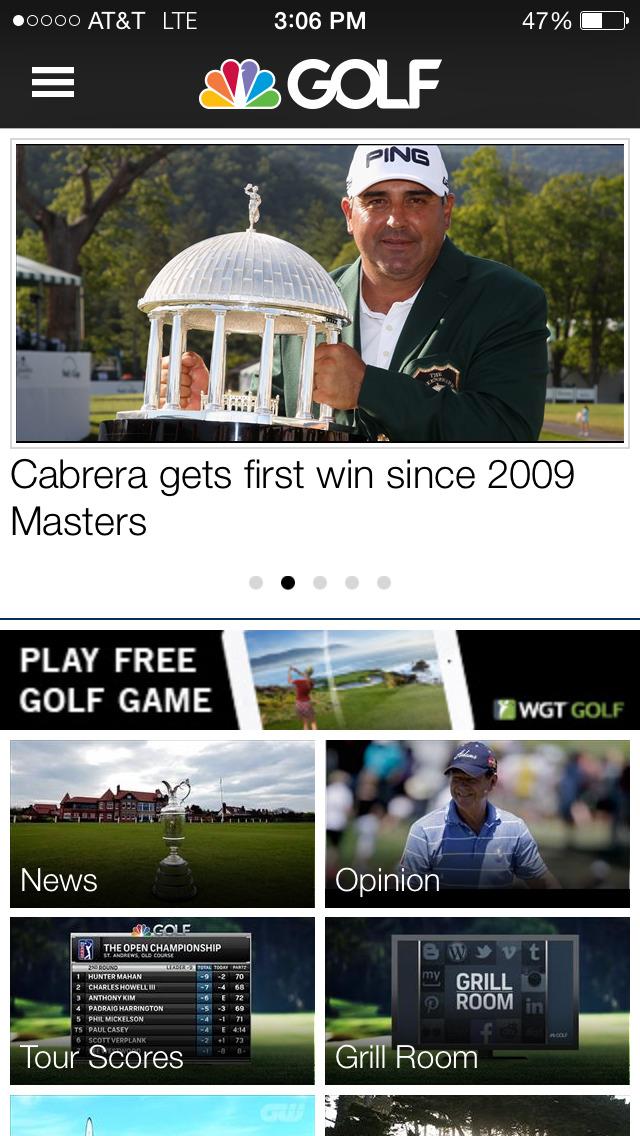 Golf Channel screenshot 1