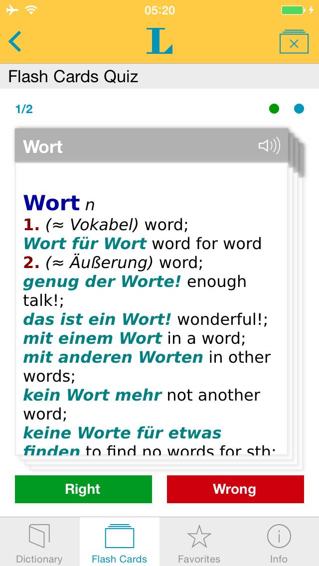 Big German English Dictionary screenshot 3