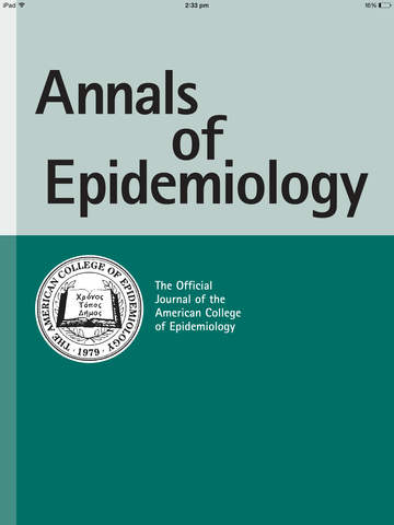 Annals of Epidemiology screenshot 6
