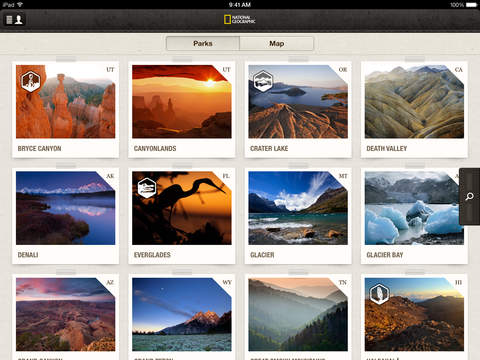 National Parks by National Geographic Screenshot