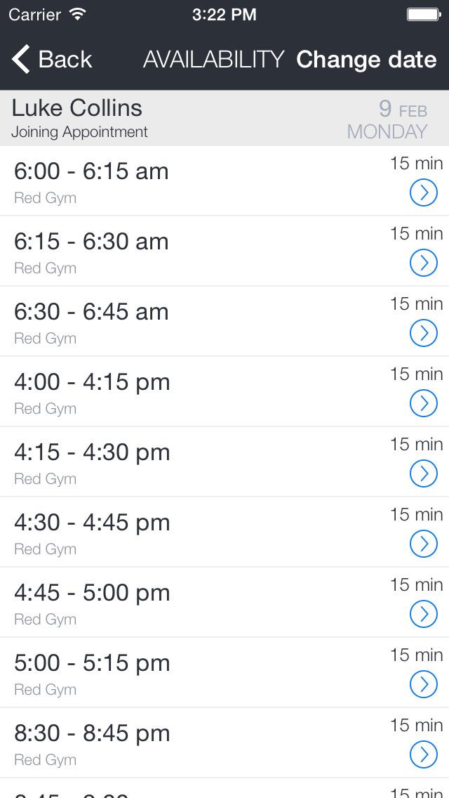 Red Gym Mobile App screenshot 3