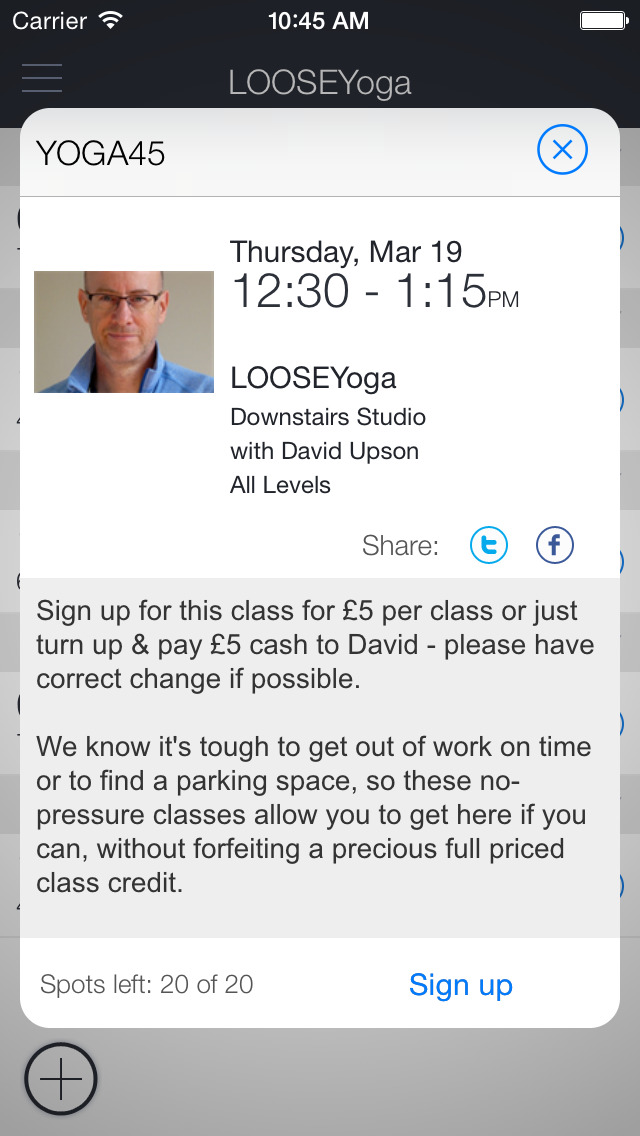 LOOSEYoga Studio App screenshot 2