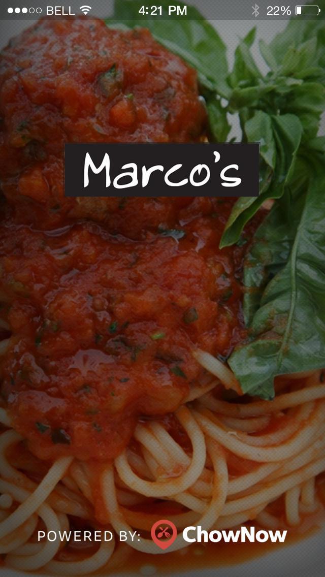 Marco's Trattoria screenshot 1