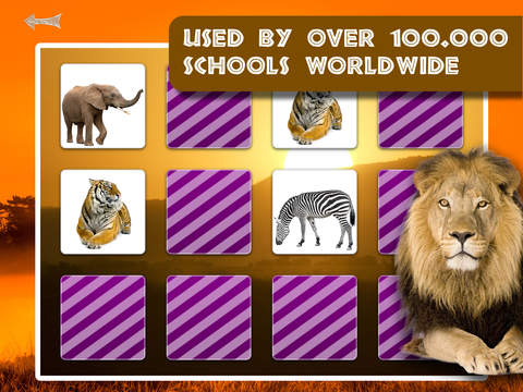 Free Memo Game Wild Animals Photo screenshot 9
