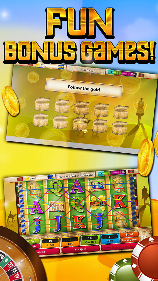 Slots of the Dark Nile Gods - Heroes Among Pharaohs Casino of Thrones screenshot 4