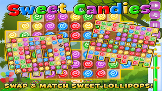 Sweet Candies Ad-Free - Lollipop Candy Match-3 Puzzle Game screenshot 1