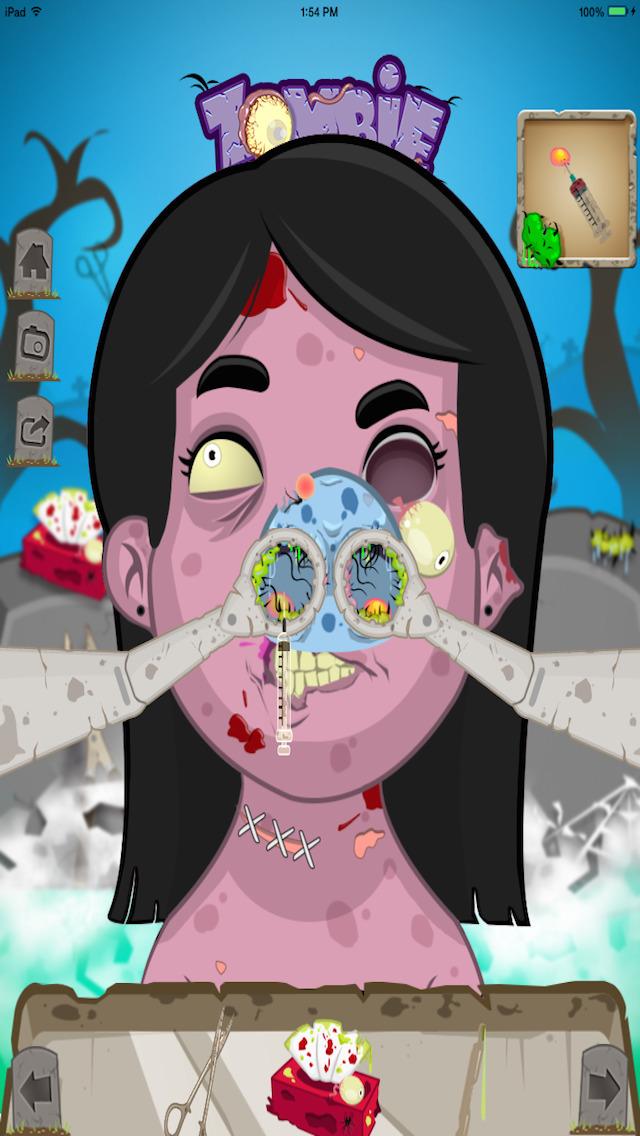 Zombie Nose Surgery - Lite screenshot 3
