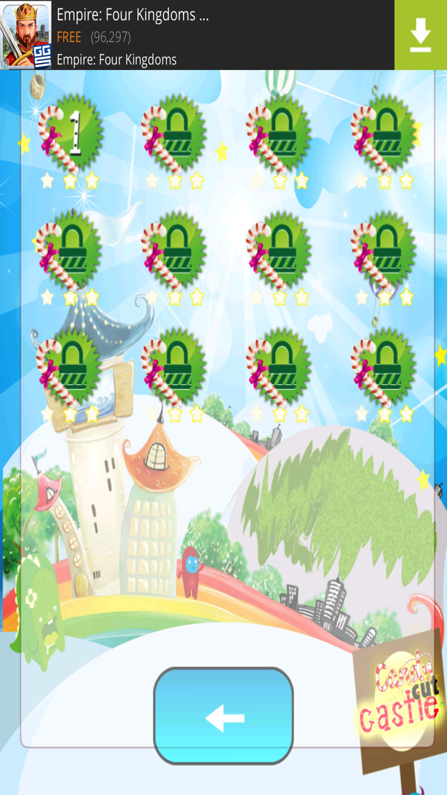Rope Castle : The Monster Cut Candy screenshot 2
