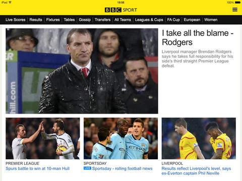 BBC Sport screenshot 10