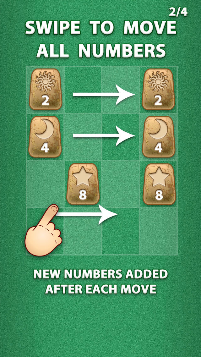 2048 Aztec Rune Stones Mini Puzzles screenshot 3