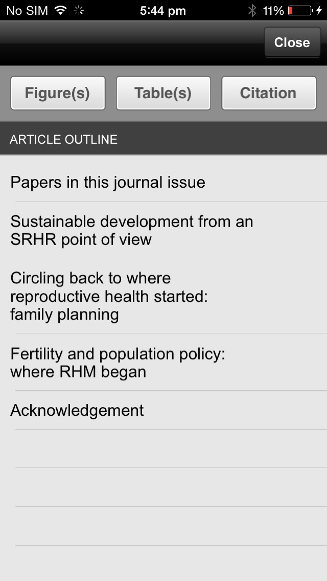 Reproductive Health Matters screenshot 2