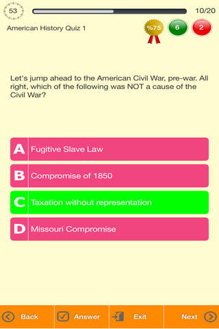 American History Quizzes - náhled