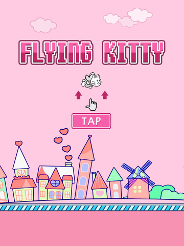 Flying Kitty's Fly Adventure - Fly with Adventurous Tiny & Cute Kitty screenshot 6