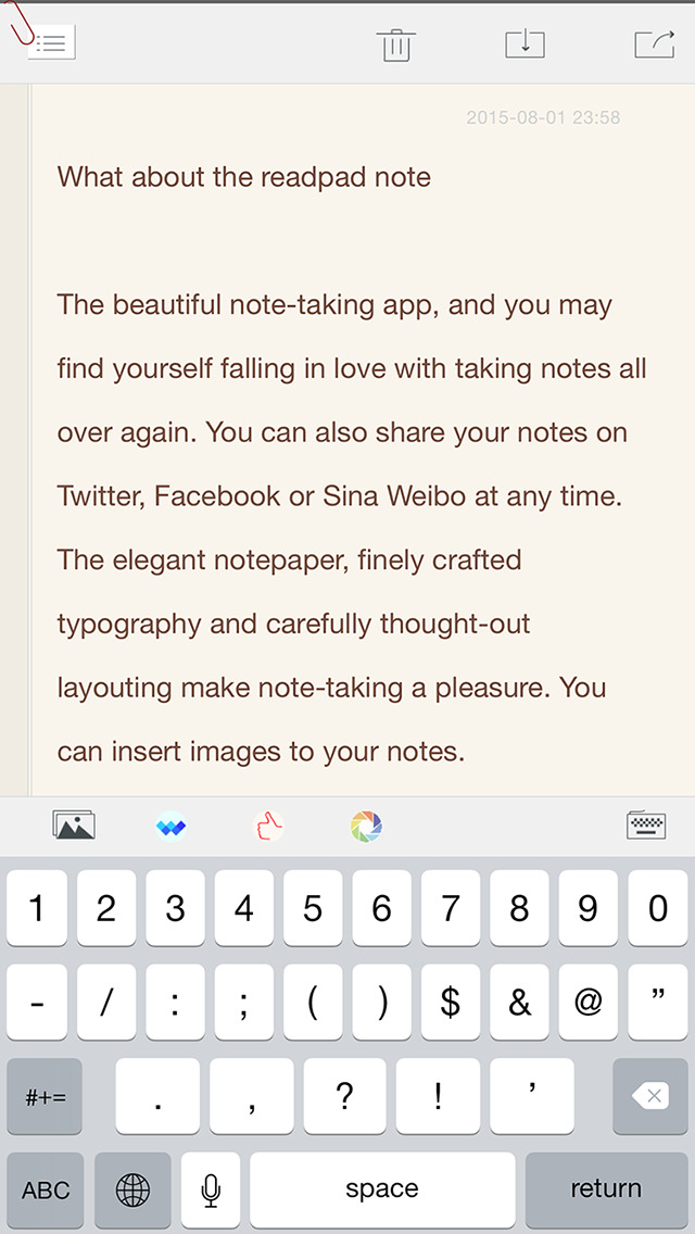readPad Notes screenshot 3