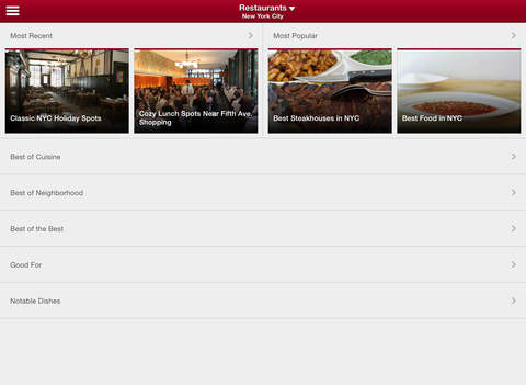 Zagat - Restaurant Ratings & Reviews screenshot #4