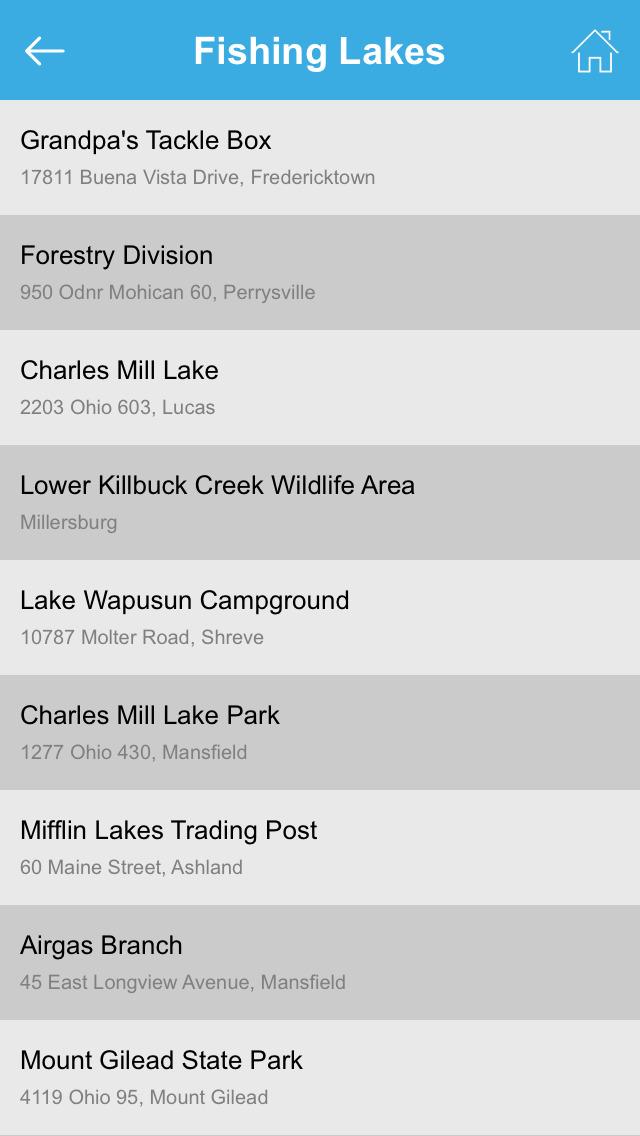 Ohio Fishing Lakes screenshot 5