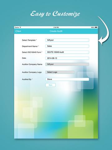 ISO/TS 16949 audit app - náhled