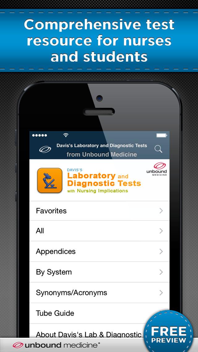 Davis's Lab & Diagnostic Tests screenshot 1