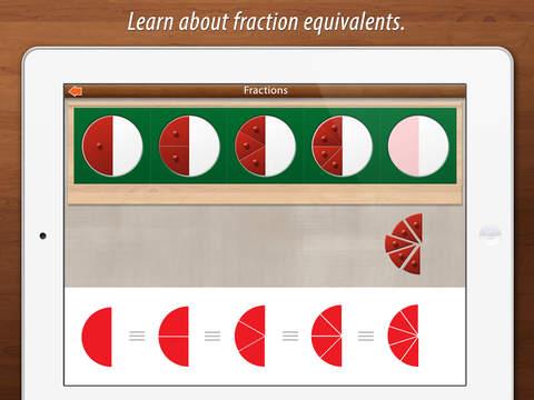 Preschool Fractions - Montessori Math for Kids screenshot 3