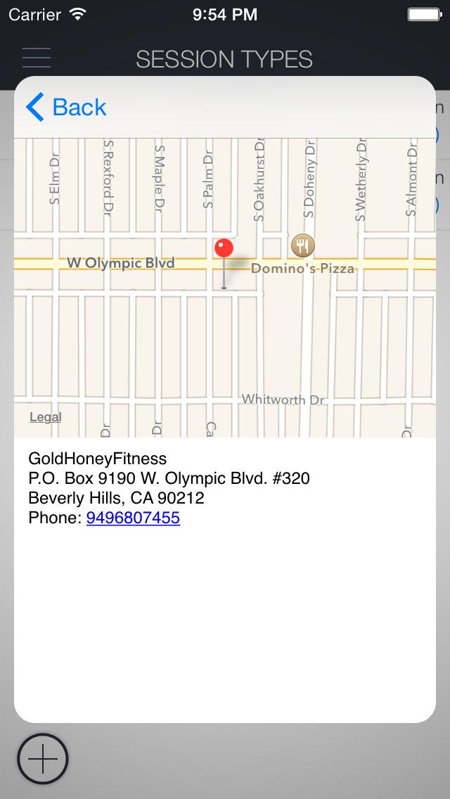 Gold Honey Fitness screenshot 4