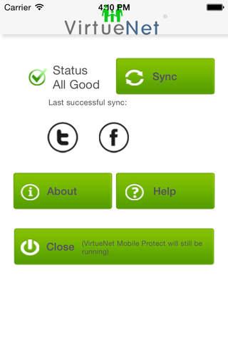 VirtueNet MobileProtect - náhled