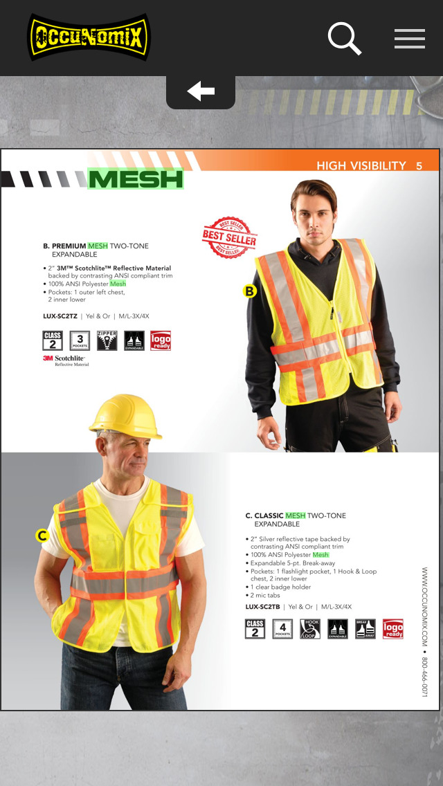 OccuNomix Safety Gear and Apparel Catalogs screenshot 3