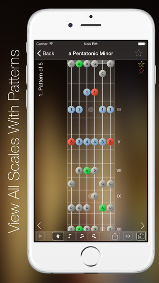 iphone scale app scales pro for guitar on the app 12267