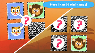 Play with Wild Animals - The 1st Cartoon Memo Game for a toddler and a whippersnapper free screenshot 1