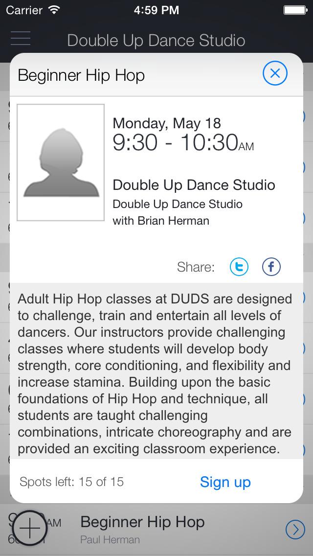 Double Up Dance Studio screenshot 2