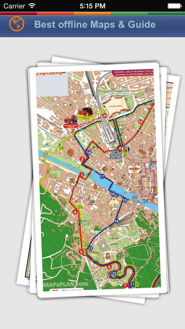 Florence Tour Guide: Best Offline Maps with Street View and