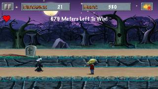 Witch vs Green Bubble Head Zombies screenshot 1