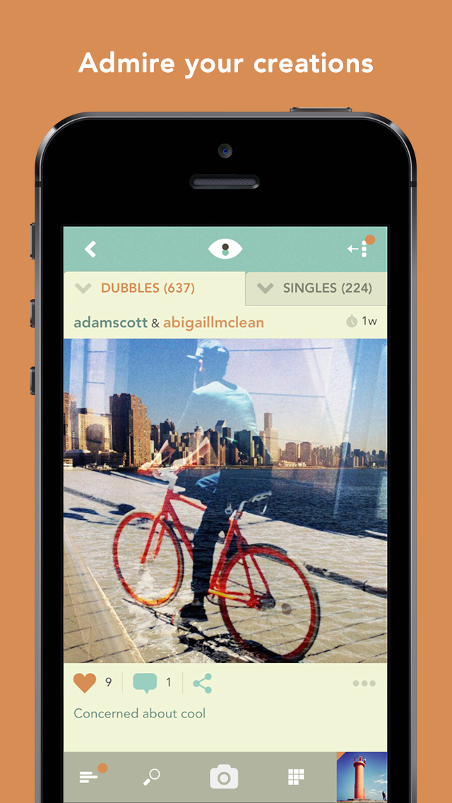 dubble - mix your photos with the world screenshot 2