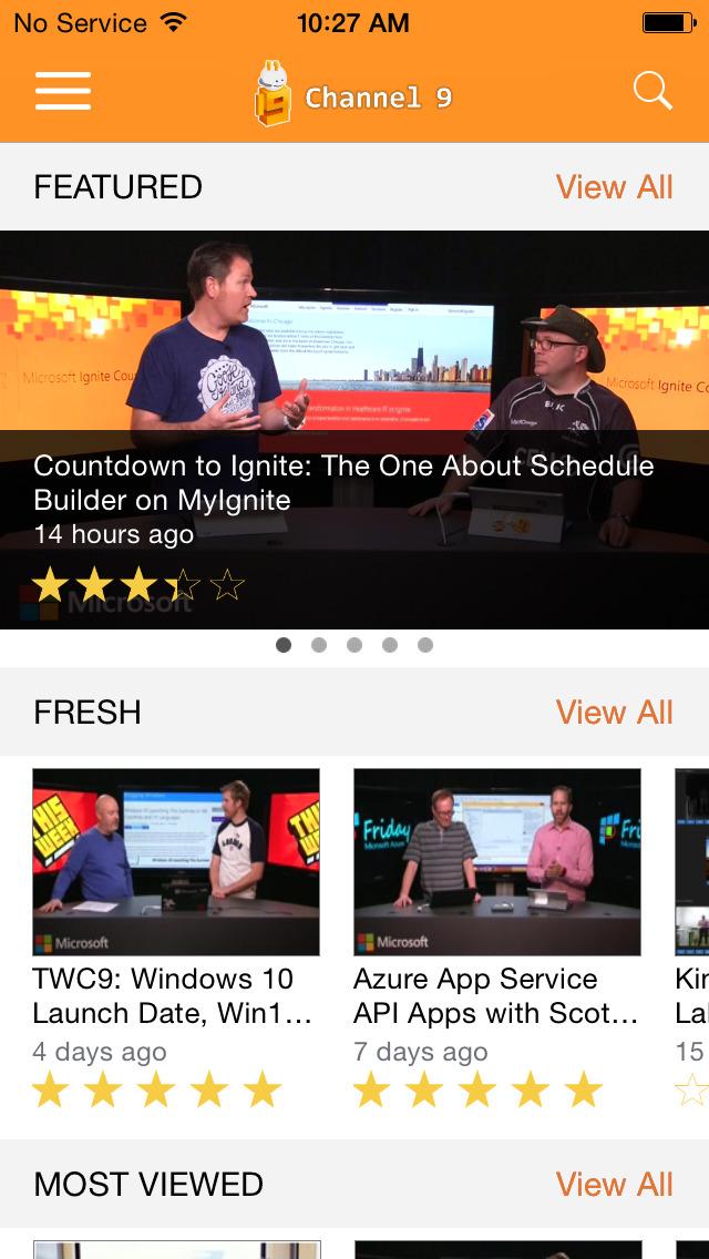 Microsoft Channel 9 screenshot 1