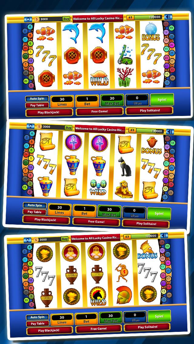 `Lucky Gold Rich Las Vegas Casino Coin Jackpot 777 Slots - Slot Machine with Blackjack, Solitaire, Bonus Prize Wheel screenshot 5