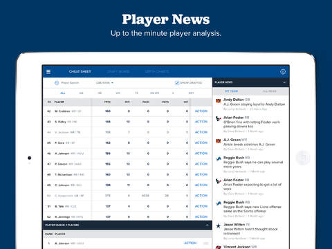 Fantasy Draft Kit by CBS Sports screenshot 10