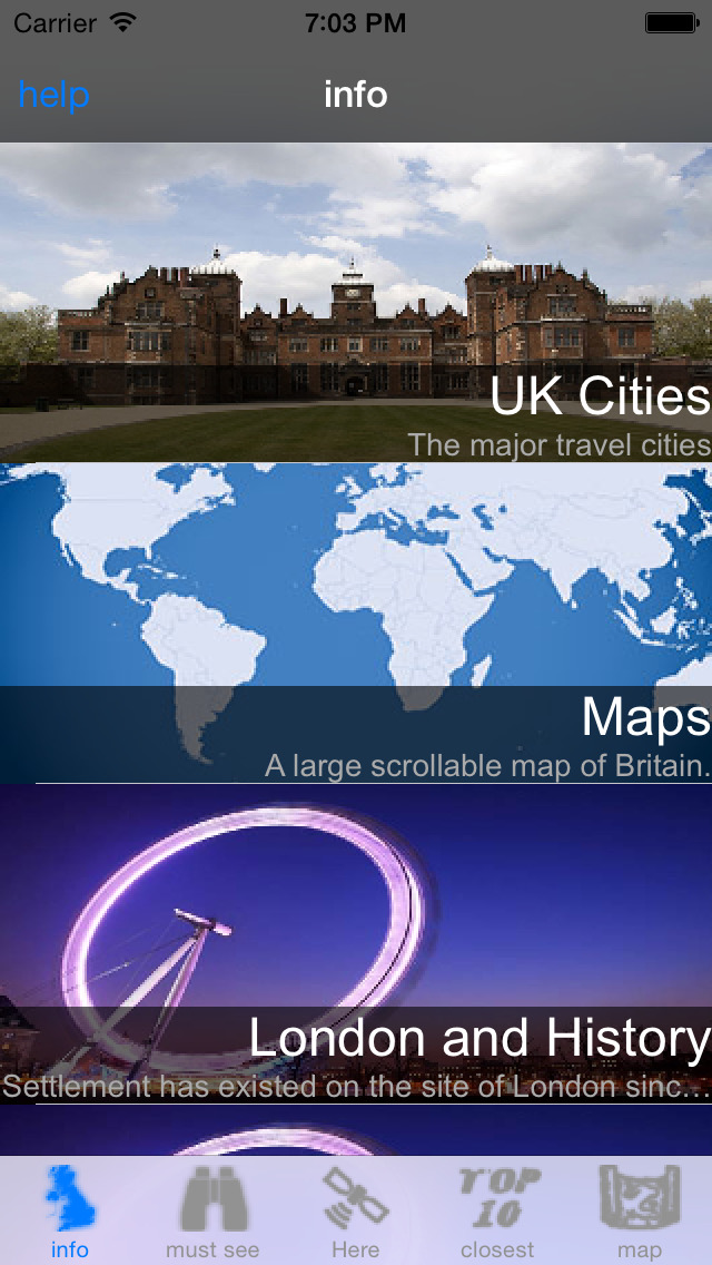 UK Travel Guide screenshot 1